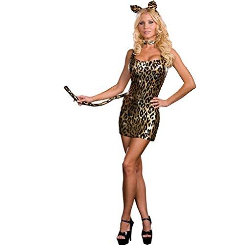 [Dreamgirl Kitty Kat Dress, Gold/Black, One Size] (Kit Kat Halloween Costumes)