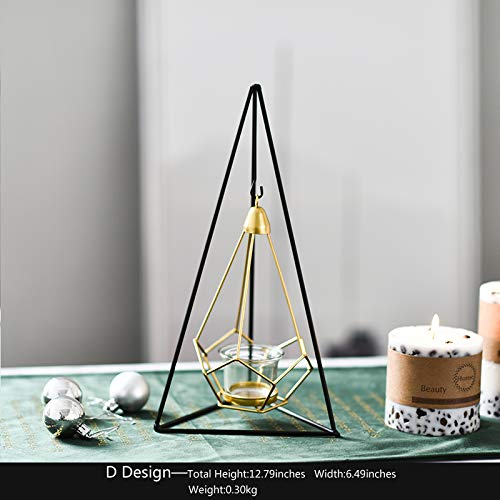 PackALL Creative Hanging-Basket Glass Tealight Candle Holder - Ideal for Home Decor & Wedding Centerpiece