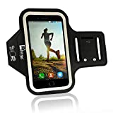 iPhone 7/8 Plus Running Armband with Fingerprint ID Access. Sports Phone Arm Case Holder for Small 9'' - Large 20'' Arms. Designed for Runners, Gym Workouts & Extreme Exercise