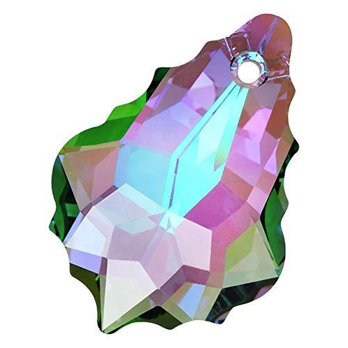 Swarovski Crystal, 6090 Baroque Pendant 22x15mm, 1 Piece, Crystal Paradise Shine