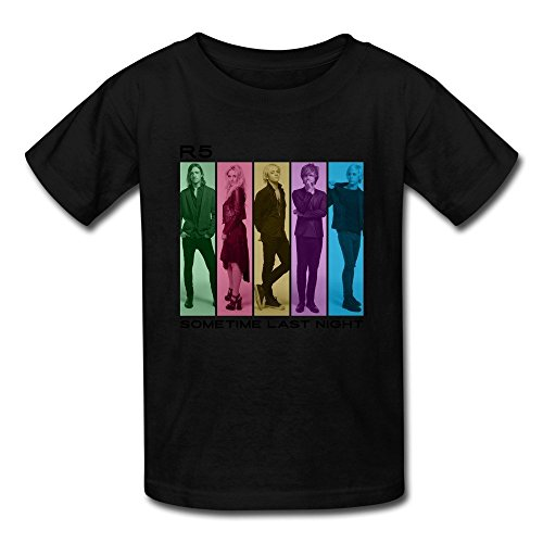 [AOPO Rock Band Ross Lynch R5 T Shirt For Kids Unisex Medium Black] (Book Week Costumes For Sale)
