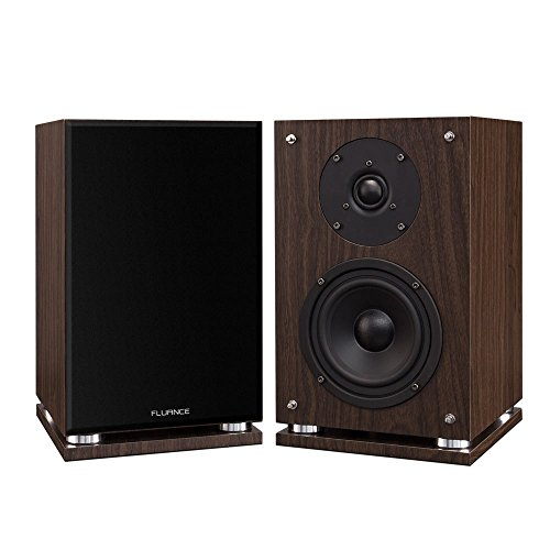 Fluance SX6W High Definition Two-Way Bookshelf Loudspeakers – Natural Walnut