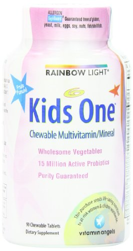 RAINBOW LIGHT - MULTIVITAMIN KIDS ONE MULTISTARS - FRUIT PUNCH - 90 BONBONS