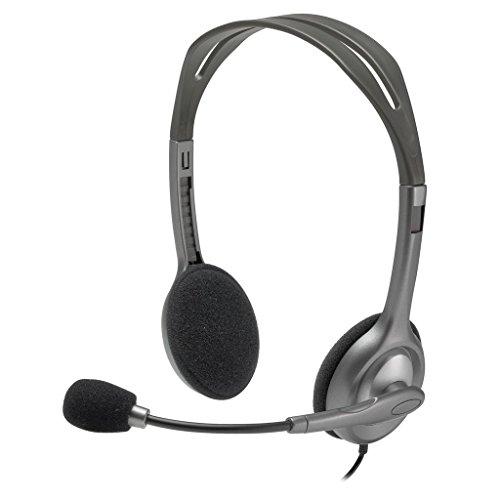 Music Stereo Headset (New Logitech Full Stereo Noise Cancelling Headset H111 - Bulk Packaging)