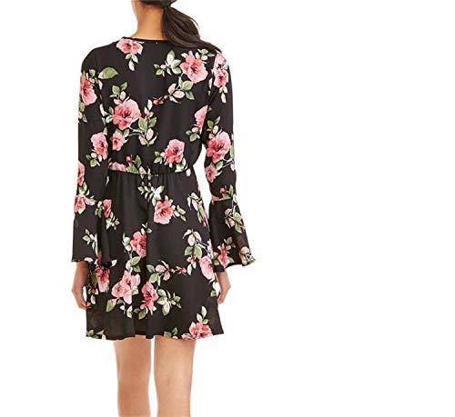 laces Longues Robes Robes Lizes Minces Robes imprimes Robes Black Sexy Robes lastiques et Mode n8wxnqRSg