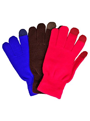 Tricolor 3 Pack Stretchy Texting手袋