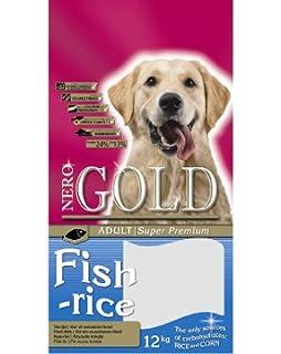 Pienso para perros NeroGold Fish 12 kg. con pescado, verduras y arroz