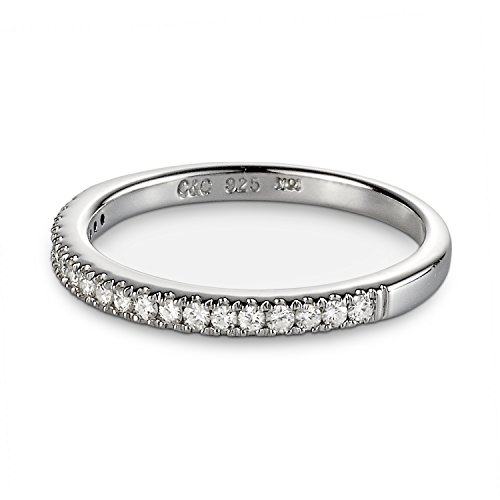 Forever Classic 1.4mm Moissanite Stacker Band-size 6 by Charles & Colvard from Charles & Colvard