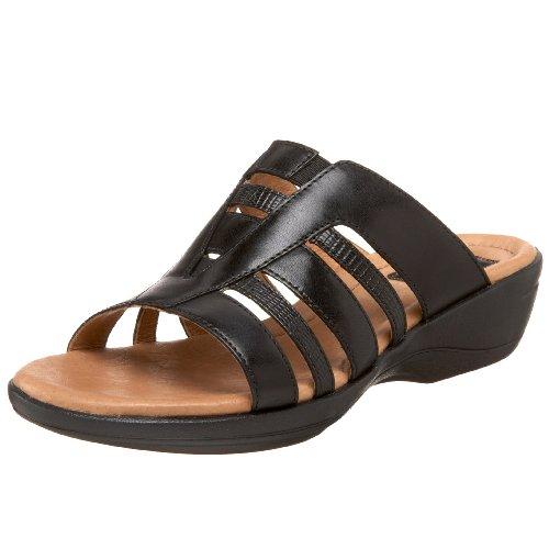 CLARKS Women's Rejoice Boa Sandal,Black,6 M US