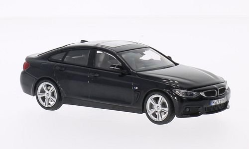 BMW 4er Gran Coupe, black, Model Car, Ready-made, Kyosho 1:43 - Kyosho Model Cars