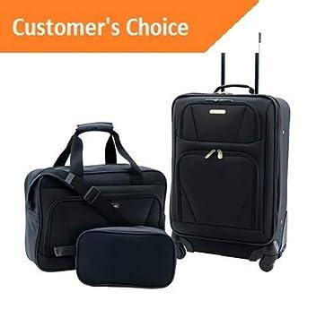 Amazon.com | Sandover Travelers Club Unisex Midtown 3 Piece Softside gage Value Set | Model LGGG - 12028 | | Luggage Sets