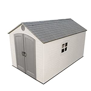Lifetime 6402 Outdoor Storage Shed, 8 by 12.5 Feet; 2 windows