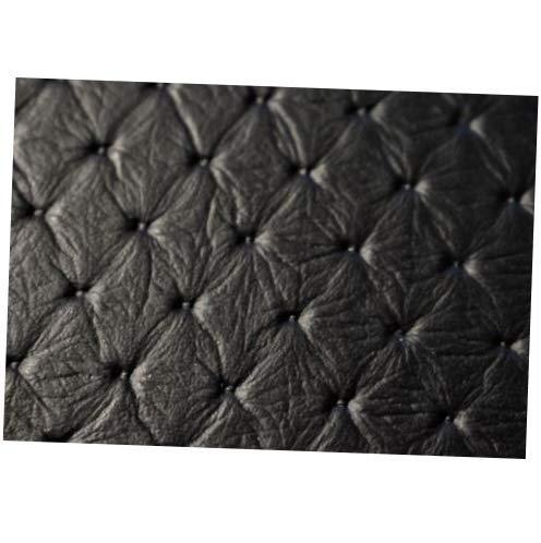 (Fabric Vinyl Fabric Black Embossed Grain Stitch Diamond Marine Boat Upholstery 54