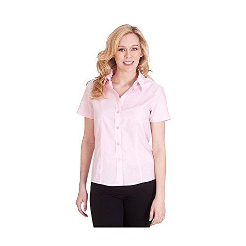 Uneek uc712poliéster algodón de la mujer camisa de popelina de manga media Rosso