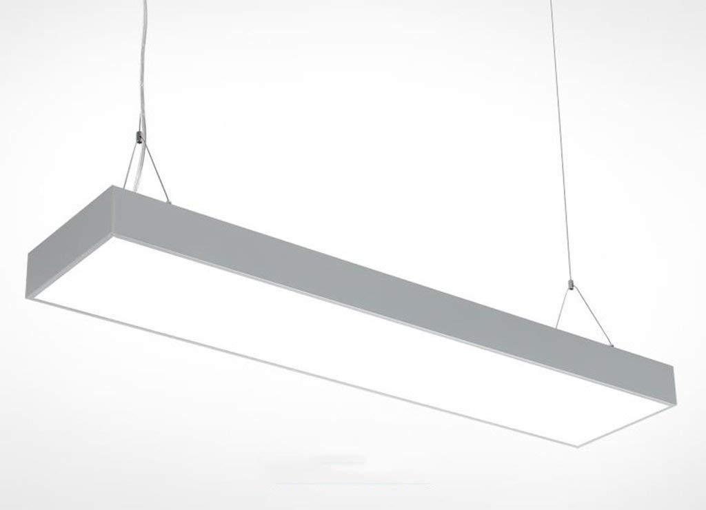 Geführte rechteckige Band-Büro-Lampen-Leuchter-verschobene Lampe modernes kreatives von langer Form das Aluminiummaterial Bays 2835 weißes Licht-Art und weiße Chip.Z (Farbe  Schwarzes, Größe  60  20C