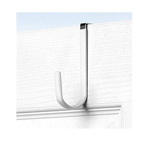Spectrum Over-The-Door Single Hook Vinyl Coated White ( 4 Pack) by Spectrum