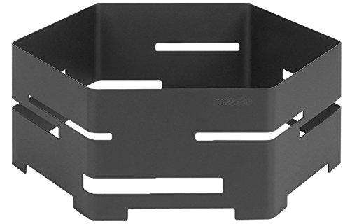 Hexagon Buffet - Rosseto SM134 16-Inch Steel Hexagon Buffet Riser, Medium, Black Matte