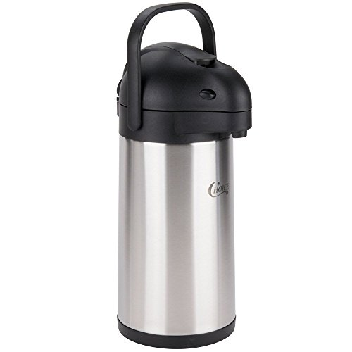 Choice 2.5 Liter Stainless Steel Lined Airpot with Lever ()