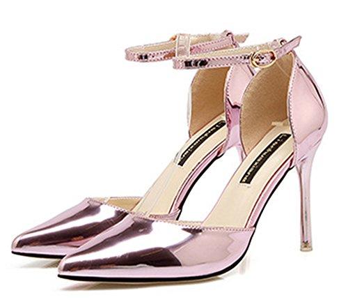 Aisun Sandaalit Naisten Teräväkärkiset Kengät Nilkkalenkki Pinkki Herkkä rrw8qf