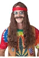 California Costumes Men's Hippie Man Wig and Moustache