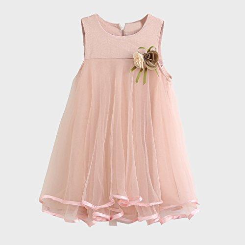 Puseky Toddler Baby Girls Sleeveless Princess Tutu Dresses Mesh Tulle  Sundress (1-2 Years, Pink): Amazon.co.uk: Baby