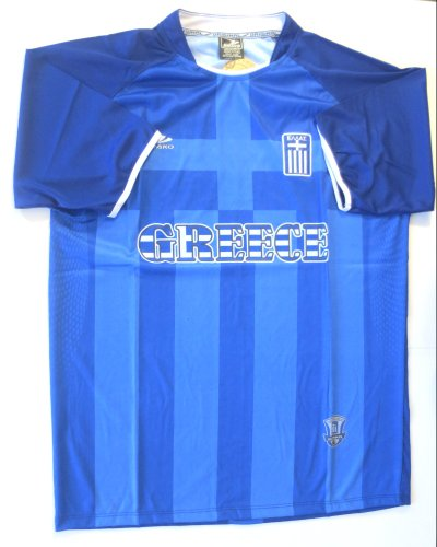 GREECE SOCCER JERSEY SIZE LARGE. NEW