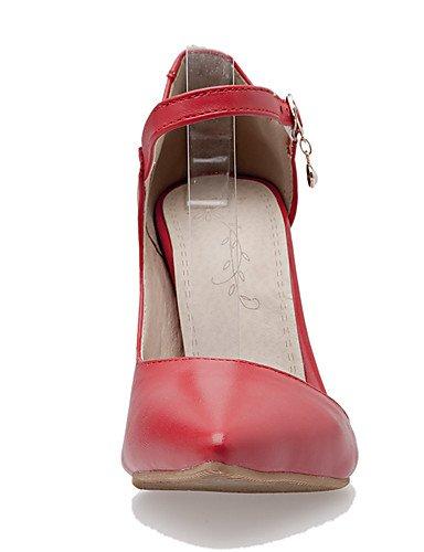 GGX/Damen Schuhe Stiletto Heel Spitz Zulaufender Zehenbereich Ankle Strap Pumpe mehr Farbe erhältlich red-us8.5 / eu39 / uk6.5 / cn40