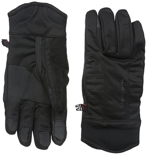 Manzella Men's Get Intense Touch Tip Gloves, Black, - Sleeves Turbo Thumb