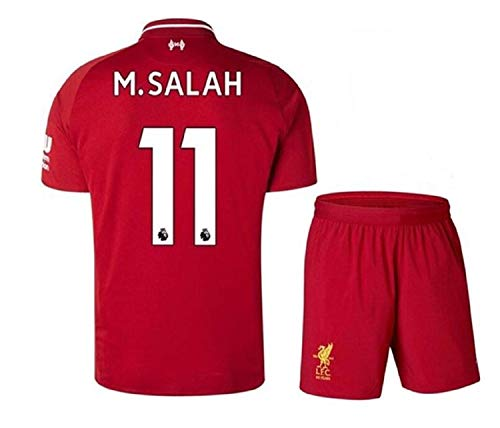 27bb2fa02c7 Liverpool Home Jersey  11 M Salah 2018-2019 Kid s Soccer Jersey Red(S-XL)  (M 24)