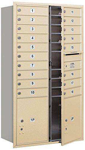 Salsbury Industries 3715D-18SFU 4C Horizontal Mailbox, Sandstone