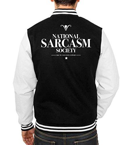 National Sarcasm Society College Vest Black Certified Freak