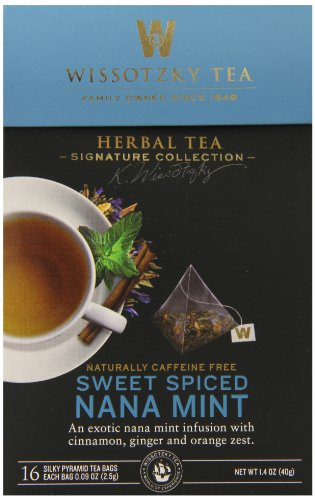 - Wissotzky the Signature Collection Tea, Sweet Spiced Nana Mint, 16 Count (Pack of 6)