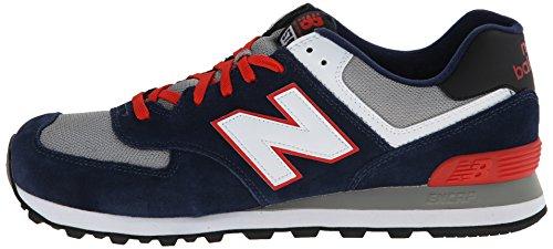 888546363267 - New Balance Men's ML574 Core Plus Classic Running Shoe, Navy/Red/White, 12 D US carousel main 4