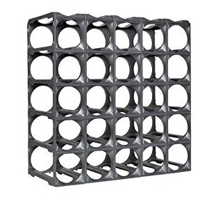 - Stakrax - Stackable, Modular Wine Rack - 30 Bottle Set