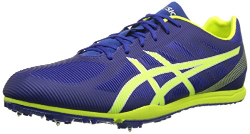 ASICS Men's Heat Chaser Track And Field Shoe,Deep Blue/Flash Yellow,11 M US (Best Track And Field Shoes)