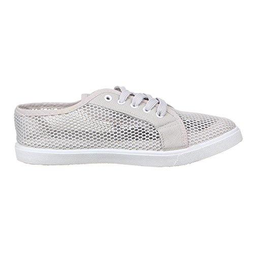 Damen Schuhe, 127, HALBSCHUHE Grau