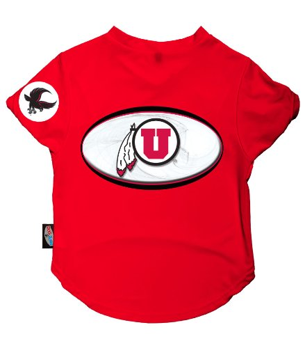 Dog Zone NCAA Pet Performance Football Jersey, XX-Small, University of Utah by dog zone