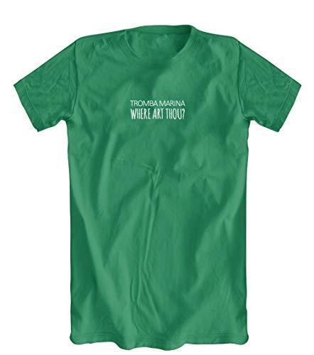 Tromba Marina Where Art Thou? T-Shirt, Men's, Green, XXX-Large - Art Tromba