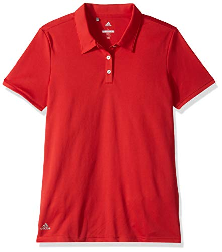 - adidas Golf Tournament Short Sleeve Polo, Collegiate Red, Large
