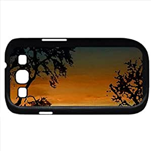 african night (Sky Series) Watercolor style - Case Cover For Samsung Galaxy S3 i9300 (Black)