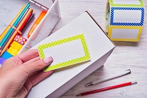 Adesivo Nome Tag Adesivi Colori assortiti 300 etichette misura 90 x 50 mm 3 colori