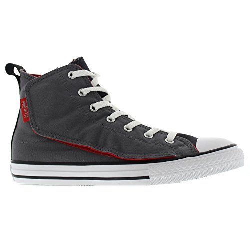 Converse Youths All Star Simple Step Hi Thunder Textile Trainers Grey