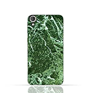 HTC Desire 820 TPU Silicone Case With Green Marble Texture Design.