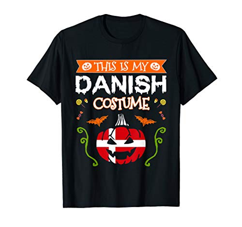 This Is My Danish Costume Halloween Denmark Flag Pumpkin T-Shirt