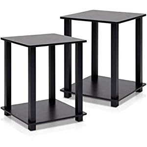 furinno simplistic furniture corner and side end lamp table set of 2