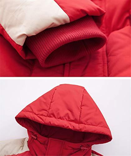 en coupe capuchon à duvet de slim à d'hiver femmes d'hiver pour manteau Vestes blanc long SwBq4xIOS