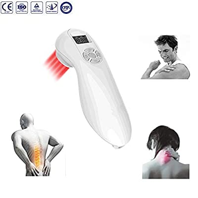 VOROSY Handheld Pain Relief Laser Therapy Device Low Level Cold Laser Intensity Acupuncture Pain Relief for Rheumatic Injuries Arthritis Neuropathy Tendonitis Neck,Back,Shoulder,Knee or Feet Pain