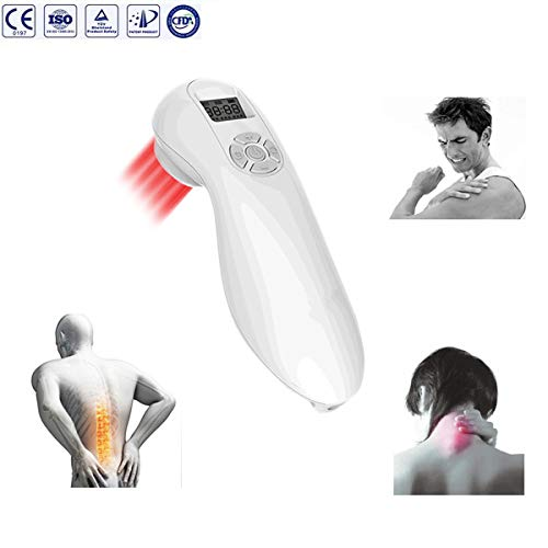VOROSY Handheld Pain Relief Laser Therapy Device Low Level Cold Laser Intensity Acupuncture Pain Relief for Rheumatic Injuries Arthritis Neuropathy Tendonitis Neck,Back,Shoulder,Knee or Feet Pain (Handheld Laser Level)