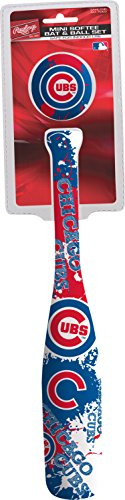 Jarden Sports Licensing MLB Chicago Cubs Kids Mini Softee Bat & Ball Set, Small, -