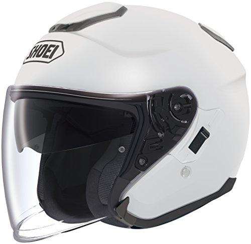 Shoei Solid J-Cruise Touring Motorcycle Helmet - White/Medium